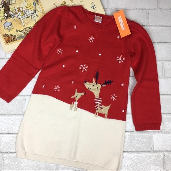 1b6de64aeca NEW Gymboree Girls Holiday Red Sweater Dress 5T